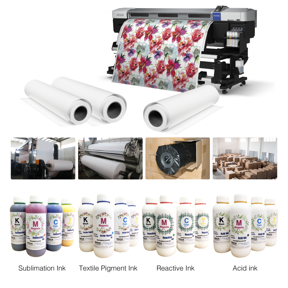 Sublimation Transfer Paper & Sublimation Ink & Heat Transfer Vinyl